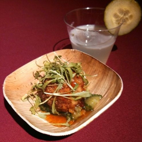 Dinner on Ludlow - Chicken Meatball with Cucumber Slaw