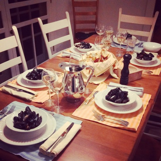 Mussels in white wine and Sancerre